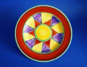 "Early Clarice Cliff Original Bizarre Geometric 8"" Plate c1928"